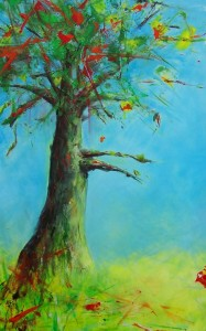 """No tree like this tree"" - Acryl - 110x70 - € 695,-"