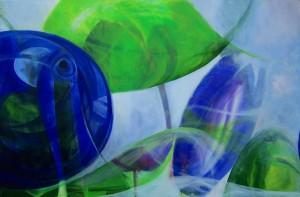 """""""Glashelder"""" - Acryl - 120x80 - € 750,-"""